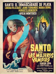 """Santo vs. Las mujeres vampiro"" poster"