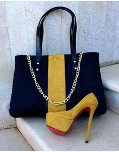 e5f46529d4b1 Shoes with matching handbag