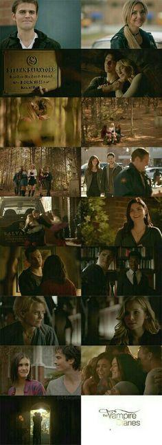 The Vampire Diaries Finale: Stefan, Lexi, Damon Caroline, Elena, Bonnie, Vickie, Tyler, Matt, Alaric, Josie, Lizzie, Jo, Enzo, Jeremy, Liz, Jenna, and John | #TVDForever