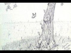 Drawing an olive tree - Dibujando un olivo