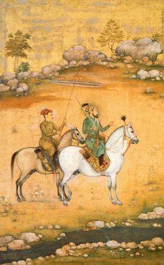 Shah Jahan and Dara Shikoh ca. 1638 by Govardhan