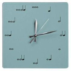 Music / piano teacher gift idea Music clock