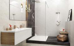 Łazienka w nowoczesnym, prostym stylu - http://www.paradyz.com/plytki/lazienkowe/emilly-milio