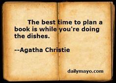 Agatha Christie on writing.