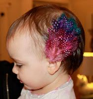 Feather Hair Clips at Prudent Baby