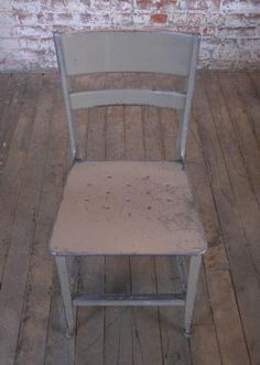 Original, Vintage Industrial, Toledo Metal Dining Chair - Get Back Inc Metal Dining Chairs, Vintage Industrial Furniture, Folding Chair, Farmhouse, The Originals, Lighting, Home Decor, Decoration Home, Room Decor