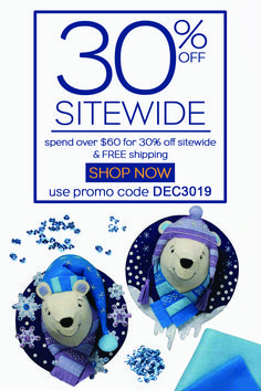 30% OFF YOUR ORDER + FREE SHIPPING* ON ALL ORDERS OVER $60  Simply spend $60 or more with code DEC3019 to save 30% on your order PLUS receive FREE SHIPPING! This promo may be used multiple times during the promotion time period; however, this promotion cannot be combined with any other offer. Discount applied at the time of checkout. Offer valid through December 31, 2019. Terms subject to change.