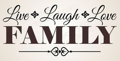 family wall stickers decor | Live Laugh Love Family Vinyl Wall Quote Word Decal Home Decor