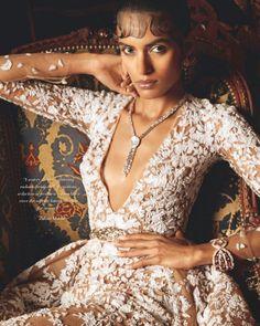 Lakshmi Menon for Harper's Bazaar Bride India March 2015 - Zuhair Murad Spring 2015 Couture