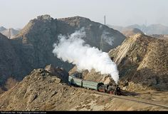 RailPictures.Net Photo: SY 1047 China Local Railroad Steam 2-8-2 at Baiyin, China by Fabrice Lanoue