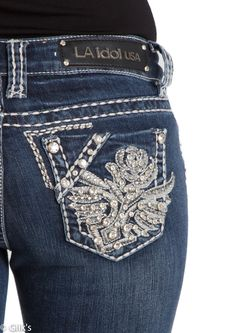 LA Idol Jeans Sparkly Jeans Pretty Jeans by flutterforfashion ...