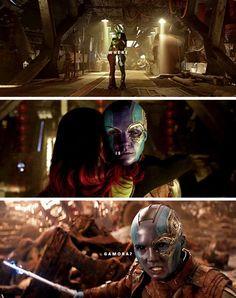 Infinity war Nebula and Gamora Gamora And Nebula, Nebula Marvel, Marvel Memes, Marvel Dc Comics, Marvel Avengers, Bucky Barnes, Marvel Characters, Tony Stark, Infinity War