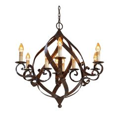 Wrought Iron Chandeliers Rustic | Wrought Iron Globe Chandelier