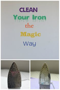 Clean Your Iron. I tried the salt method from another pin - didn't work. Then tried this and it worked!