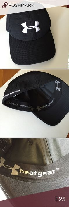 3bc91d4860b Under Armour Blitzing Stretch Fit Hat New Black stretch fit UA construction  provides a comfortable fit and the built-in HeatGear sweatband wicks away  sweat ...