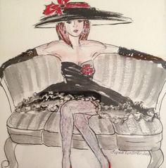 Dame for sin hatt…