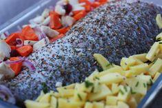 Pečený maslový kapor so zeleninou - Powered by @ultimaterecipe