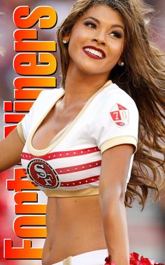 [49ers cheerleader - Cary Edmondson USA Today] When a Defensive End breaks through the O-Line and charges across the open field, should he be left with the sudden and obscene choice of being a man (a real man), or planting the token female six feet under? Real women understand this. And men (or rather guys) too timid to speak up become male cheerleaders. 49ers Cheerleaders, Six Feet Under, One Of The Guys, Baby Gates, Hate Men, Guys And Dolls, Open Field, Gender Bender, Patriarchy