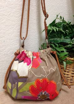 0fbb98828557 Fossil Live Long Vintage Brown Floral Canvas Leather Trim Crossbody  Shoulder Bag  Fossil  ShoulderBag