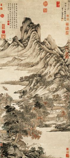 Wang Meng: Thatched Cottage in Autumn Mountains   China Online Museum