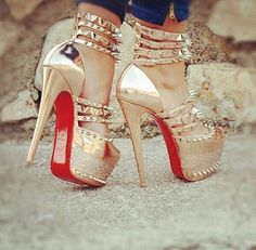 Chromed Spiked Pumps