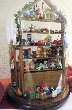 """Vignette Displays in 1:12 Scale From the 2015 Seattle Miniature Show: Back View of """"Santa's Check 'N Those Letters"""" by Dolly Wytenberg"""