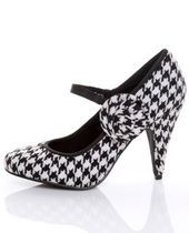 I am not super crazy about the shoe itself. However, I would buy it simply b/c it's houndstooth
