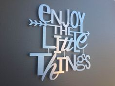 Enjoy The Little Things Metal Wall Art - Home Decor - Wall Art - Wall Decor…