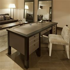 Amleto desk & Isotta chair, designs by Promemoria., made in Italy. #beautifullifestyle
