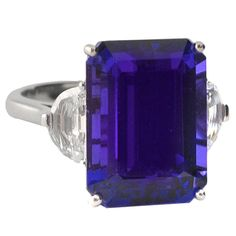 1STDIBS.COM Jewelry & Watches - Gem Quality Tanzanite and Diamond Ring - Vendome Inc