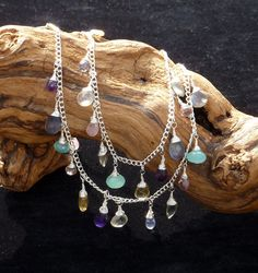 Necklace  Multi gemstone two strand wire by JorvikMoonDesigns, £30.00