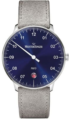 1af38184962 MeisterSinger Watch Neo Suede Grey NE908N Suede Grey Watch