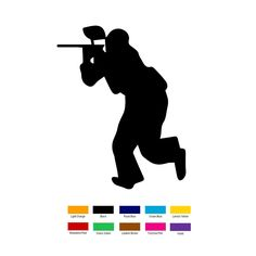 Wholesale 10 pcs/lot 15cm x 10cm Paintball Player Car Sticker For Truck Window Bumper Auto SUV Door Laptop Kayak Vinyl Decal