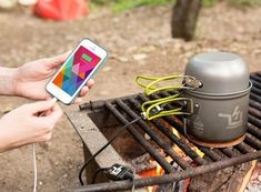 "PowerPot Cooking Pot & Charger Combo The ""Shark Tank"" Approved Camping Pot That Charges USB-Compatible Devices"