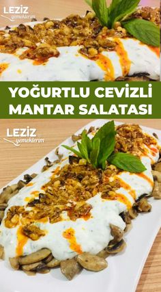 Salad Recipes, Snack Recipes, Low Carb Recipes, Healthy Recipes, Turkish Recipes, Ethnic Recipes, Clean Eating, Healthy Eating, Good Food