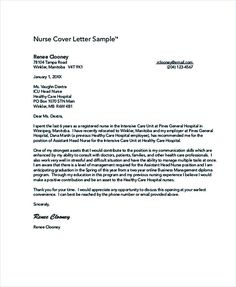 Sample Cover Letter For Resume Examples Pdf Word New Grad Nurse
