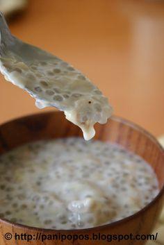 Suafa-i - Samoan banana soup with sago (tapioca pearls).