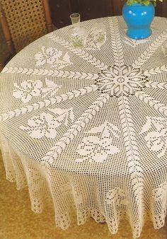 Esquemas | CTejidas: Tapete Redondo con Flores -> http://esquemas.ctejidas.com/2012/11/tapete-redondo-con-flores.html