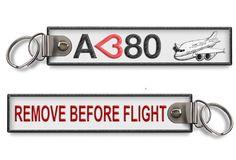 I Love A380 - Remove before flight key ring