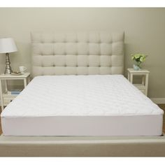 Shop for PostureLoft Quilted Waterproof Mattress Protector - White. Get free delivery On EVERYTHING* Overstock - Your Online Bedding Basics Store! Cot Bed Mattress, Pillow Top Mattress, Best Mattress, Mattress Covers, Bed Duvet Covers, Mattress Protector, Twin Quilt Size, Queen Size Quilt, King Bedding Sets