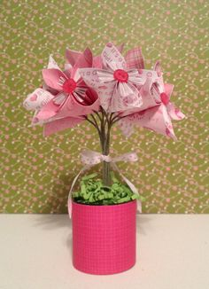 Origami Flower Bouquet It's A Girl Baby Shower by kreationsbykia, $22.99