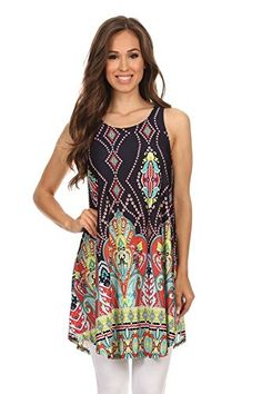 c42f150ea5ef8f Women s Print Sleeveless Scalloped Hem Dress shirt. MADE IN USA. Lauren Laws  · Tops for Leggings