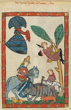 Manesse Codex - (1300 - 1340) Herr Heinrich Hetzbold von Weißensee