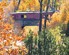 The house on the bridge, Highway of Legends, near Trinidad, Colorado.