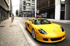 A yellow #Porsche