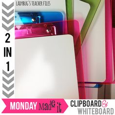 Ladybug's Teacher Files: 2-in-1 Clipboard and Whiteboard!..and easy DIY project