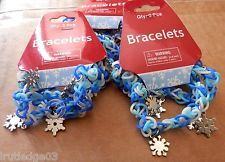 Disney Frozen Inspired Birthday Party Favors/Gifts Snowflake Bracelets (9) ~HTF