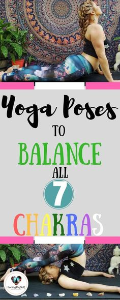 Beginner and advanced healing yoga poses for all 7 chakras. These yoga poses are great for balancing and awakening all 7 chakras: root chakra sacral chakra solar plexus chakra heart chakra throat chakra third eye chakra and crown chakra. Sup Yoga, Bikram Yoga, Ashtanga Yoga, Kundalini Yoga Poses, Yoga Handstand, Yoga Nidra, Vinyasa Yoga, Pranayama, Yoga Beginners