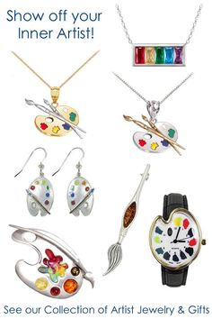Shop our fun collection of Artist Palette Jewelry, Watches and other gifts for Artists! Free U.S. Shipping Everyday - No Minimum!