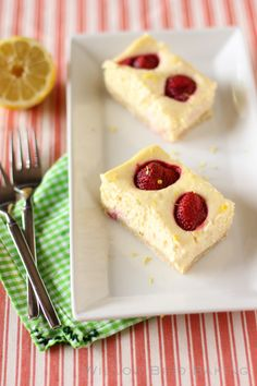 Strawberry Lemonade Cheesecake Bars with a Shortbread Crust